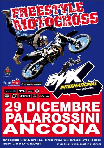 FREESTYLE MOTOCROSS SHOW al PALAROSSINI DI ANCONA 29 DIC. 2012